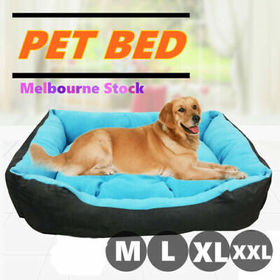 Soft Pet Bed Mattress Dog Cat Pad Mat Cushion Pillow Warm Extra Large M L