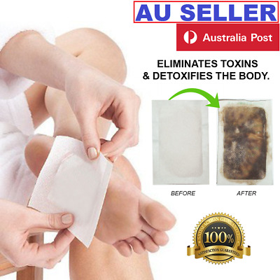 Detox Foot Pad Patches Remove Harmful Body Toxins Sleep Herbal Cleanse Patch AUS