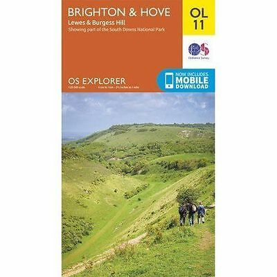 Brighton & Hove, Lewes & Burgess Hill by Ordnance Survey (Sheet map, folded,...
