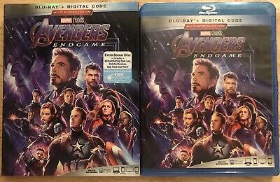 Disney Marvel Avengers Endgame Blu Ray & Bonus 2 Disco Set + Fodera Manicotto
