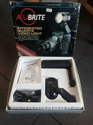 Acubrite Integrated Quartz Video Light CL510. Fits all camcorders. Used.