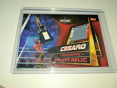 2019 Wwe Topps Slam Attax Universe Cesaro Authentic Ring Mat Relic