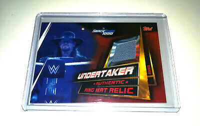 2019 Wwe Topps Slam Attax Universe Undertaker Authentic Ring Mat Relic