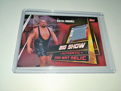 2019 Wwe Topps Slam Attax Universe Big Show Authentic Ring Mat Relic
