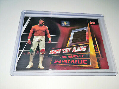 "2019 Wwe Topps Slam Attax Universe Andrade ""Cien"" Almas Nxt Ring Mat Relic"