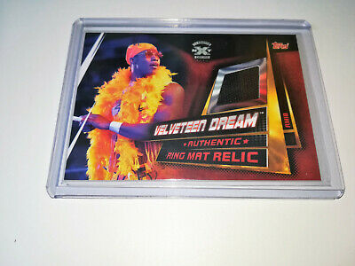 2019 Wwe Topps Slam Attax Universe Velveteen Dream Nxt Authentic Ring Mat Relic
