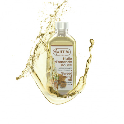 HT26 Natural vegetal Sweet Almond Oil, Softening  Body & Hair