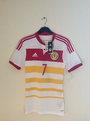 Scotland Away Shirt, Adidas Player Issue, 2014-16, Fletcher, BNWT, Size S