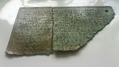ROMAN BRONZE MILITARY 2 PIECE PLAQUE DIPLOMA FRAGMENTS 1st CENTURY AD.