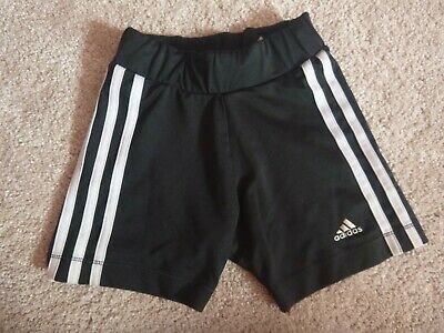 Girls black Adidas cycling shorts are 7-8yrs