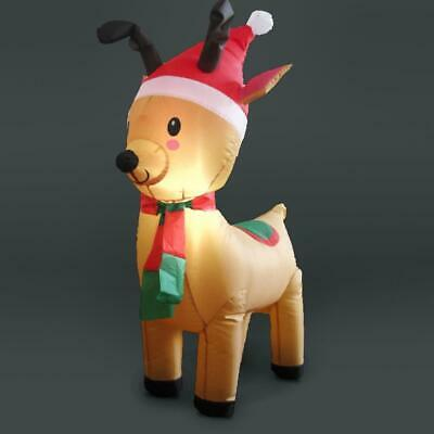 1.2m Inflatable Outdoor LED Lit Reindeer Ideal Christmas Home Display