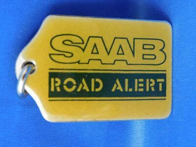 Saab Road Alert Owner Key Chain  Return Car Metal Fob Collector Advertising