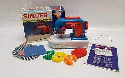 Kids SINGER sewing Machine Girls Gift Chainstitch Embroidery Beginners Toy 1994