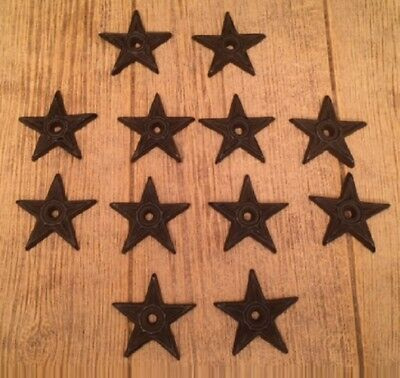"""Center Hole Texas Lone Star Small 2 3/4"""" wide Cast Iron (Set of 12) 0170-02108"""