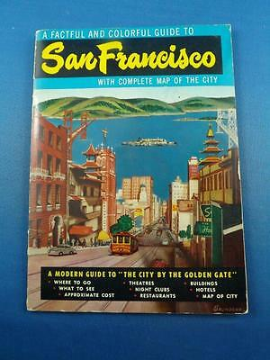 Guide Book San Francisco 1964 City By The Golden Gate Fold Out Map Souvenir