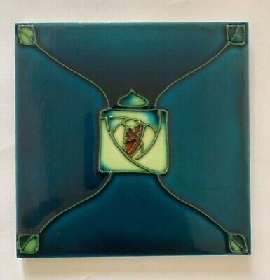 Exceptional Art Nouveau Majolica Tubeline MINTONS Tile Glasgow Mackintosh Rose