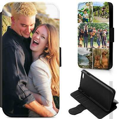 Personalised Photo Phone Case Leather Flip Cover Custom For Apple Samsung Huawei