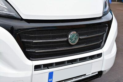 FIAT DUCATO MOTORHOME  2014> STAINLESS STEEL UPPER AND CENTRE  front GRILLE  SET