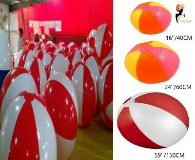 Inflatable PANEL BEACH BALLS Blow up Holiday Swimming Garden Birthday Party Toy