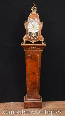 Antique French Clock - Empire Mantel Pedestal Set