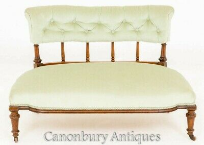 Antique Victorian Window Seat - Couch Settee 1870