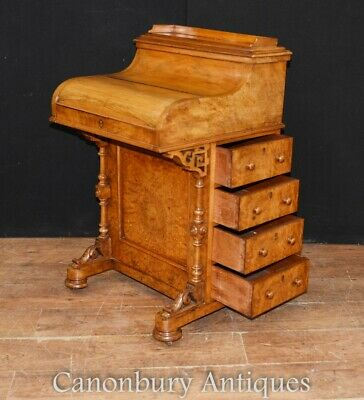 Regency Davenport Desk - Antique Walnut Pop Up Mechanism