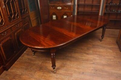 Mahogany Victorian Dining Table - Large Extending 10ft 300 CM