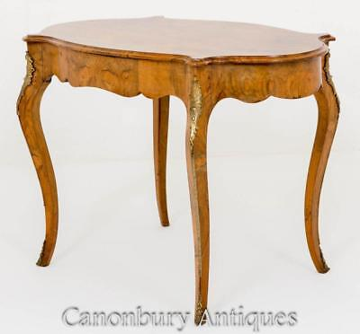 French Empire Centre Table Burr Walnut Circa 1860