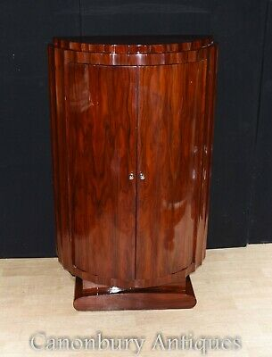Tall Art Deco Cabinet - Drinks Cocktail Chest Furniture
