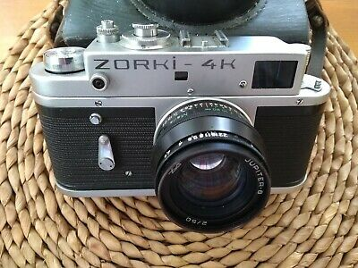 Zorki 4K 35mm film camera with clean Jupiter lens. No damage but ? shutter fault