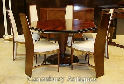 Art Deco Dining Set - Octagonal Table and Chairs Suite