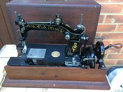 Rare Antique 1880s  Wheeler & Wilson 8 Sewing Machine with Instruction Manual.