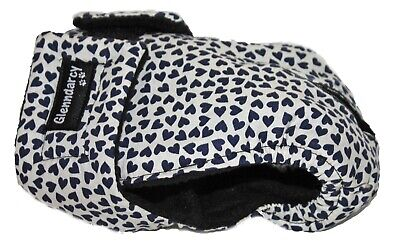 Size Small Washable Dog Season Diaper Nappy | Navy Hearts