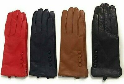 Ladies Real Leather Winter Gloves High Quality Genuine Super Soft Driving Warm