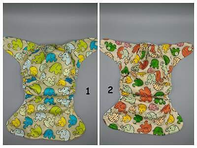SassyCloth one size pocket cloth diaper with elephants PUL print.