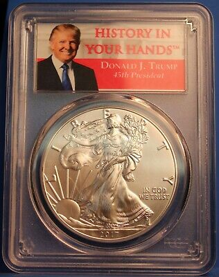 2017 1 oz American Silver Eagle PCGS MS70 'History in Your Hands' First Strike