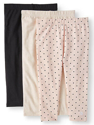 Limited Too Girls' Print and Solid Legging Capris, 3-Pack
