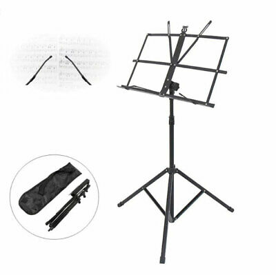 Glarry Musician's Folding Music Sheet Tripod Stand Aluminum Stand with Bag