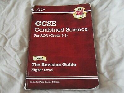 GCSE Combined Science.AQA Grade 9-1 Revision Guide- Higher Level CGP. good condi