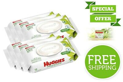 6 Pack Huggies Natural Care Unscented Soft Baby Wipes Paraben Free 288 Count