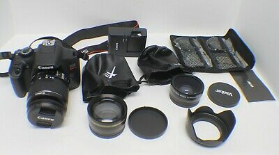Canon EOS Rebel T6 18MP Digital DSLR Camera Kit with 18-55 Lens 58mm and Extras