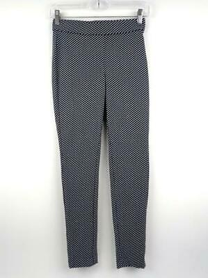 THEORY Black / White Check ADBELLE K Claymont Stretch Legging Pant Sz P / SMALL
