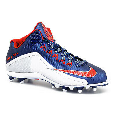 New Nike Alpha Pro II 2 Mid TD Mens Football Cleats - Navy Blue White Red - 12