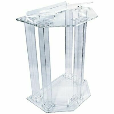 Faceted Column Style Acrylic Lectern, Podium or Pulpit
