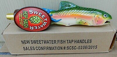 Sweetwater Brewing Co Hop Hash Double Ipa Figural Fish Beer Tap Handle New 12 In