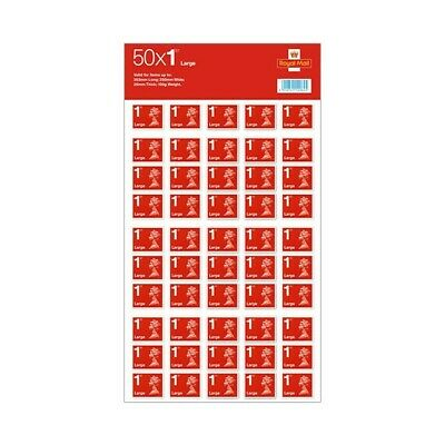 Royal Mail First Class Large Letter Self Adhesive Stamp Sheet 50 stamps