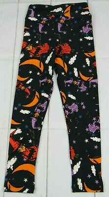 LuLaRoe Kids Halloween Leggings Black with Witches Size S/M New - A3157