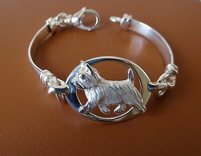 Sterling Silver Norwich Terrier Moving Study Pendant