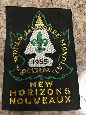 Boy Scout 1955 Canada Silk Real 8th Mondial World Jamboree Uniform Patch