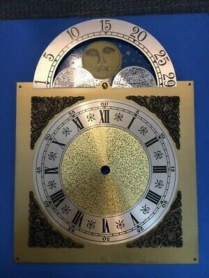 Grandfather Clock Face Moving Moving Moon Dial Brass